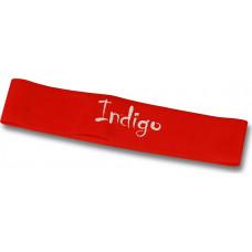 Эспандер Лента латекс замкнутая INDIGO MEDIUM (2-7 кг) 46*5*0.05см Красный