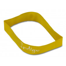 Эспандер Лента латекс замкнутая INDIGO LIGHT (2-5 кг) 46*5*0.035см Желтый