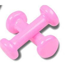 Гантели обливные с виниловым покрытием 0,5кг*2шт Розовый