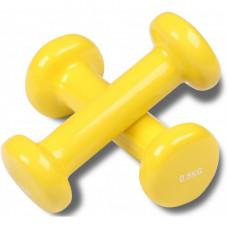 Гантели обливные с виниловым покрытием INDIGO 0,5кг*2шт Желтый