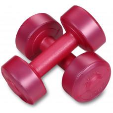 Гантели виниловые EK-212 1,0кг*2шт Розовый