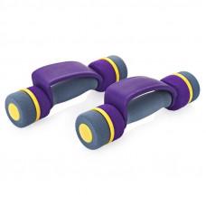 Гантели неопреновые Pro Supra 808 -PLB (3LB/PR) 0.75кг*2шт Фиолетово-серый