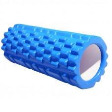 Ролик массажный для йоги INDIGO PVC IN077 14*33 см Синий