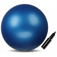 Мяч гимнастический INDIGO Anti-burst с насосом 55 см Синий