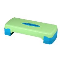 Степ-платформа для аэробики 2 уровня 68*28*10/15см Сине-зеленый