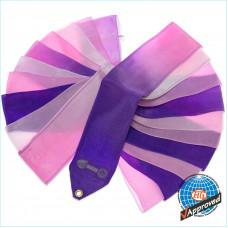 Лента SASAKI 5м M 71HG FIG ЦВЕТНАЯ фиолетово-розово-белая