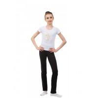 BA652.1 Белая футболка. Золотистая танцовщица
