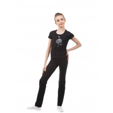 BA652.2 Чёрная футболка. Серебристая танцовщица