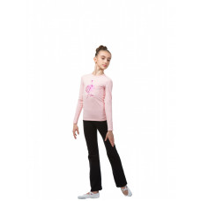 BA654.2 Футболка с длинным рукавом/ярко-розовая танцовщица