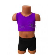 CN109 Топ фиолетовый с изображением гимнастки