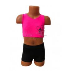 CN109 Топ розовый с изображением гимнастки