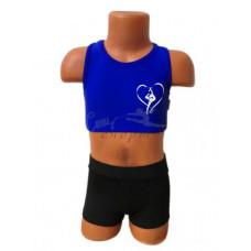 CN109 Топ синий с изображением гимнастки