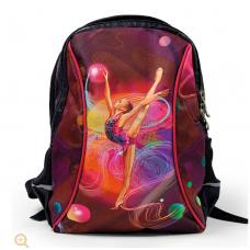 Рюкзак с гимнасткой черно-розовый